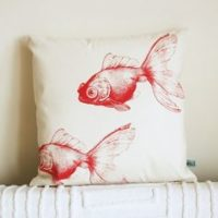Coussins poissons rouges