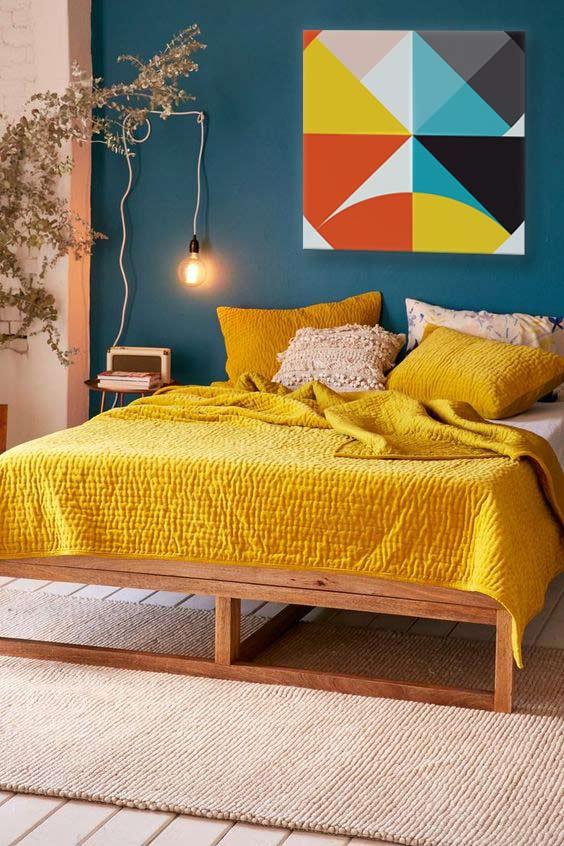 tableau-abstrait-moderne-chambre-jaune