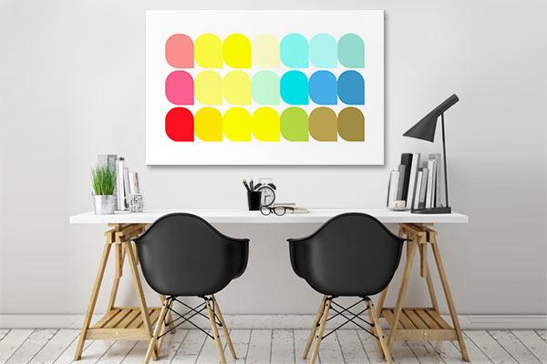 tableau contemporain coloré minimaliste