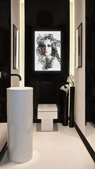 ce week end je d core mes wc blog izoa. Black Bedroom Furniture Sets. Home Design Ideas