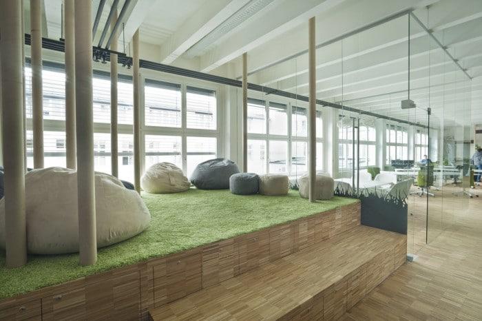 espace détente Impact Hub à Prague