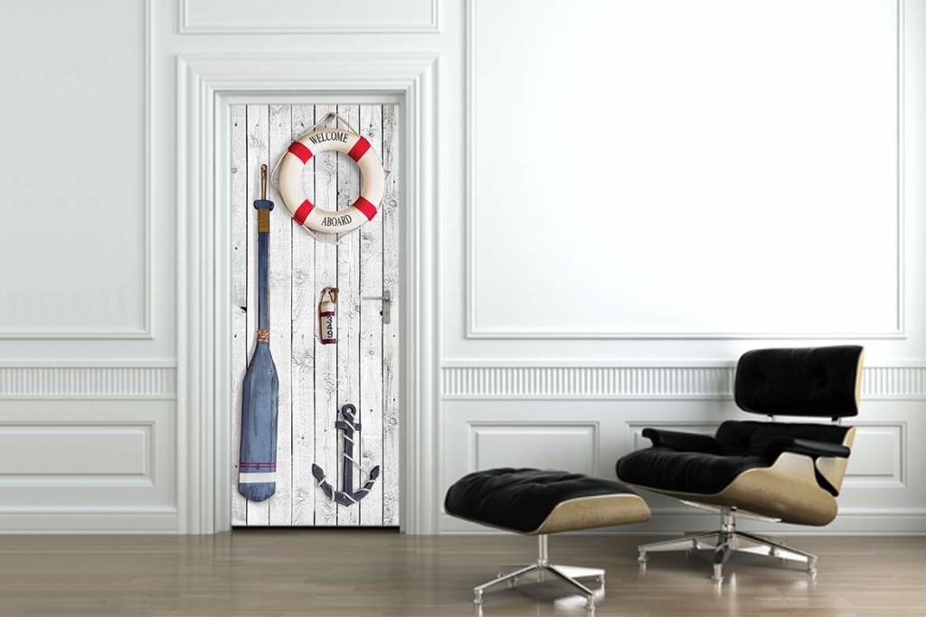 sticker de porte thème marin