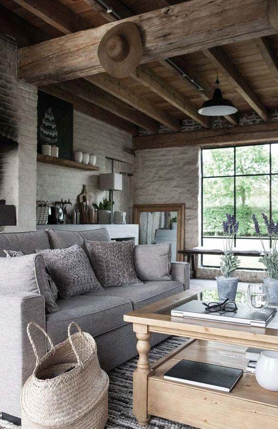 décoration salon style maison de campagne