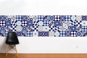 frise murale effet carreaux de ciment azulejos