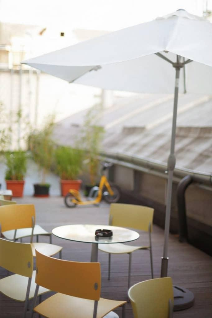 terrasse Impact Hub situé à Prague