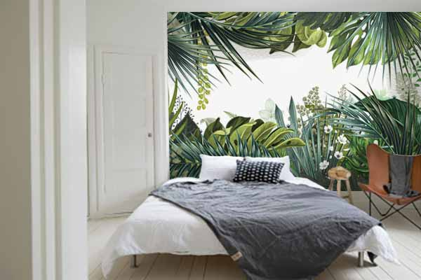 papier peint trompe l il jungle tropicale nouveaut blog izoa. Black Bedroom Furniture Sets. Home Design Ideas