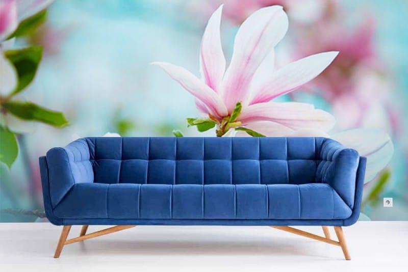 un papier peint rose pour les beaux jours. Black Bedroom Furniture Sets. Home Design Ideas