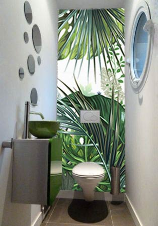 papier-peint-tropical-deco-wc