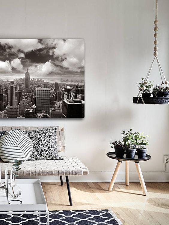 tableau design new york noir et blanc