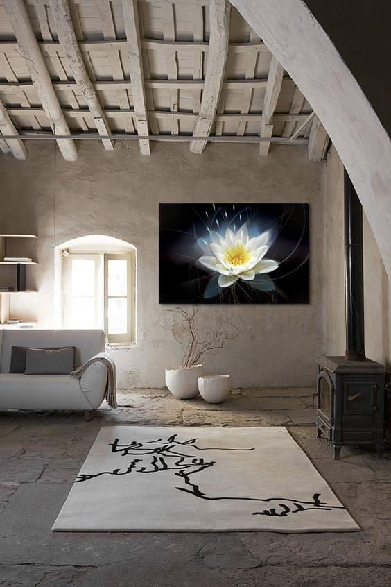 toile zen fleur moderne