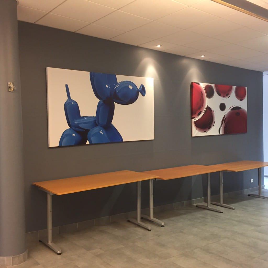 Tableaux grands formats Izoa décoration entreprise