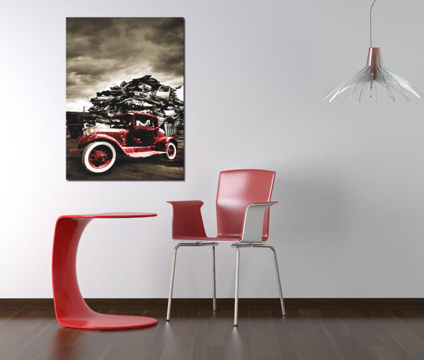 tableau style industriel Hot rod