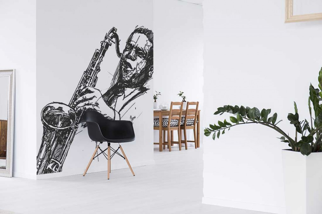 papier-peint-design-noir-blanc-jazzman