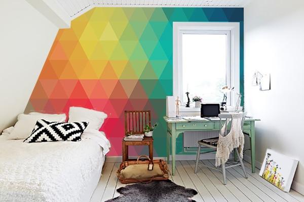 D coration combles avec un papier peint scandinave design - Papier peint pour chambre ado ...