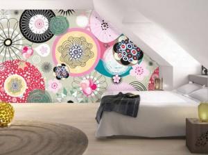 papier-peint-scandinave-design-chambre-mansarde