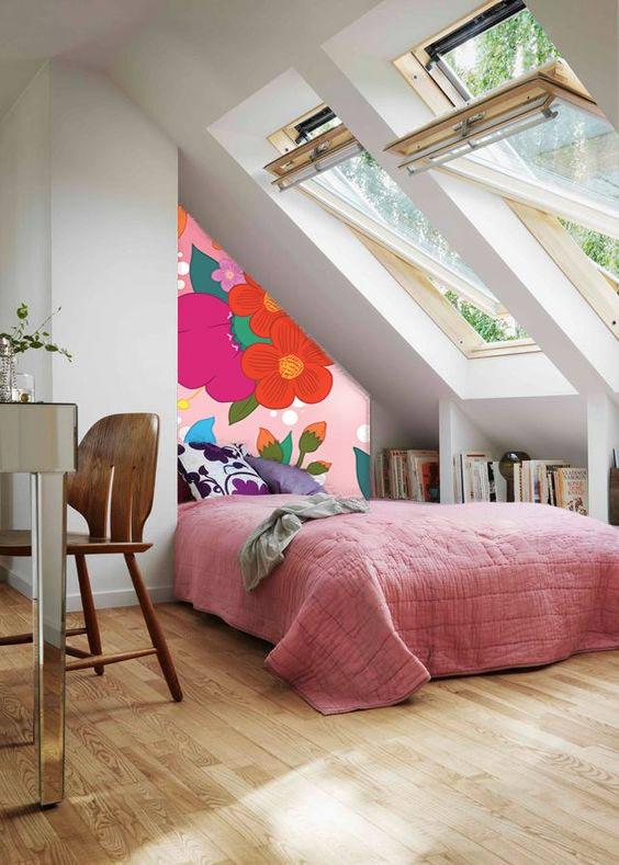 papier-peint-scandinave-design-fleur-comble