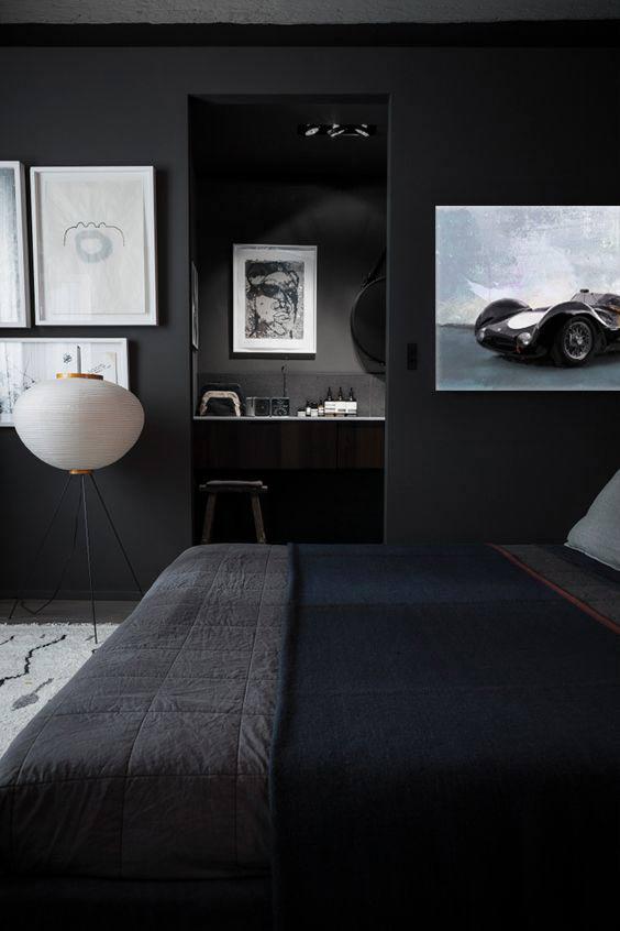 tableau-deco-moderne-chambre-grise