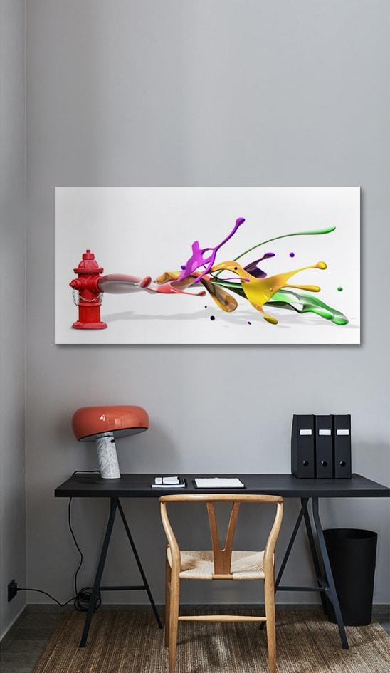 toile déco originale colorée izoa