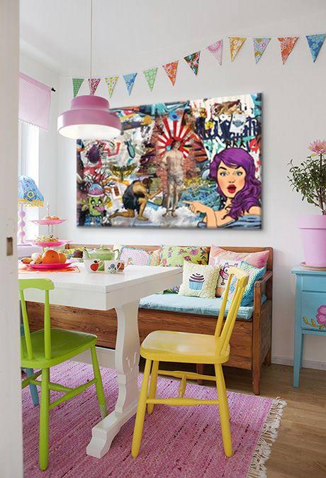 tableau-pop-art-deco-coloré