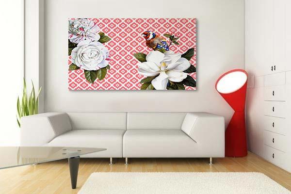 tableau-rouge-pour-salon-contemporain