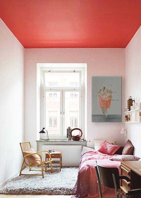 Chambre rose corail 162927 la meilleure for Decoration murale rose