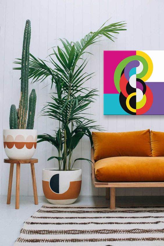 toile déco abstrait coloré