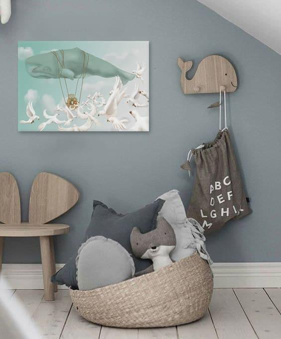décoration-chambre-bébé-grise