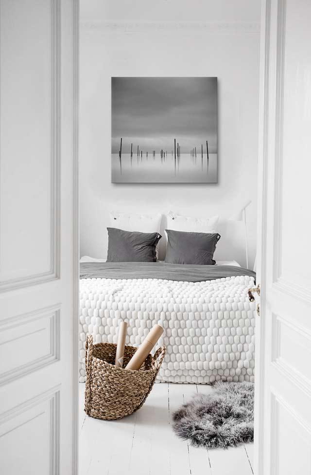deco chambre hote tableau noir et blanc