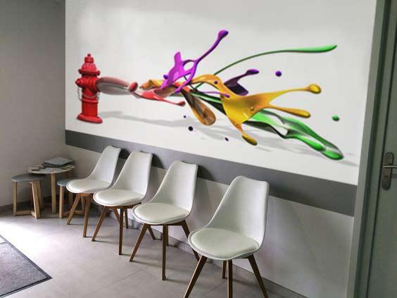 papiers peints salle d'attente