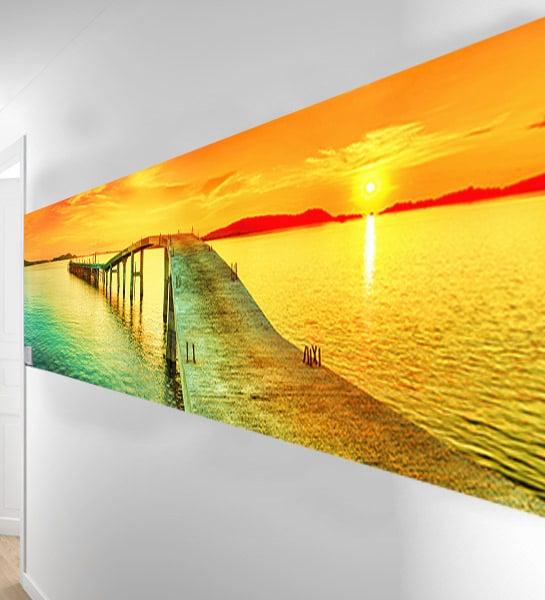 papier-peint-panoramique-dans-un-couloir