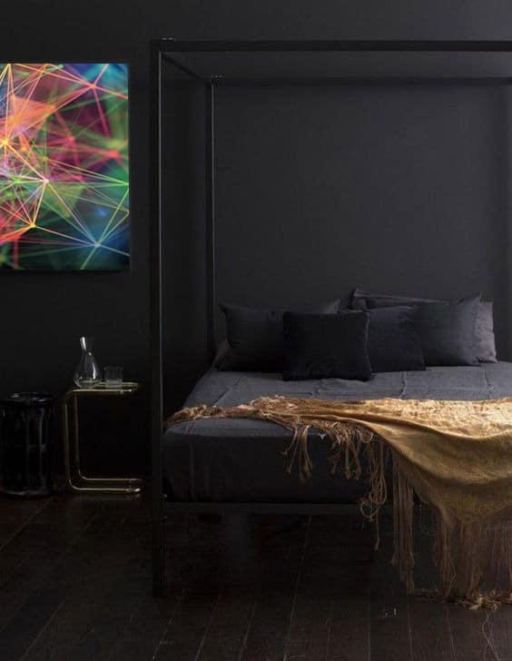 tableau-abstrait-colore-chambre-noir