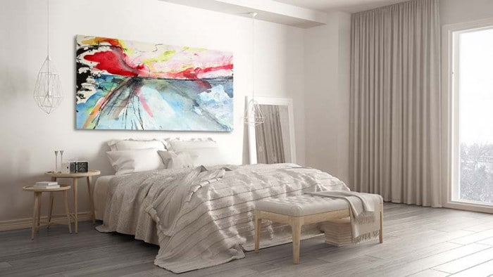 tableau-design-coloré-pour-interieur-neutre