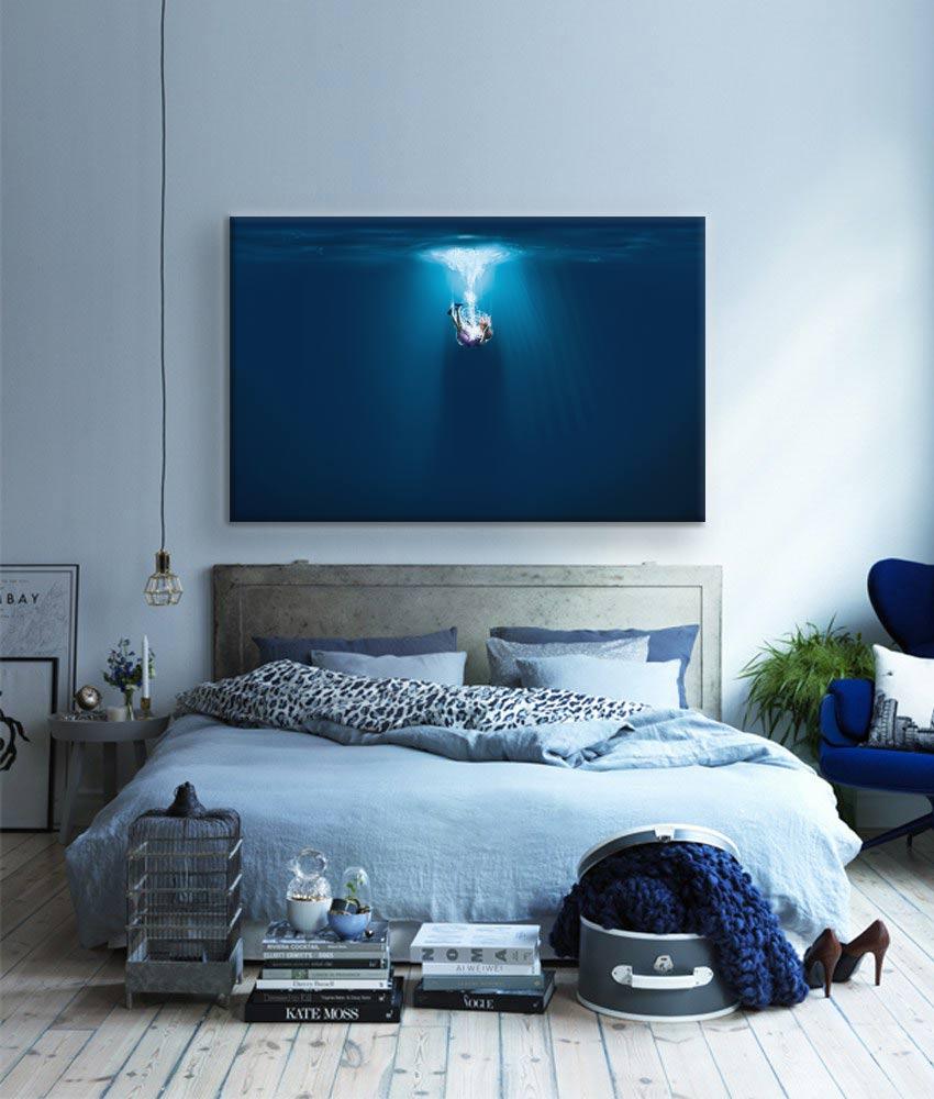 tableau-moderne-chambre-bleu-chute-divine