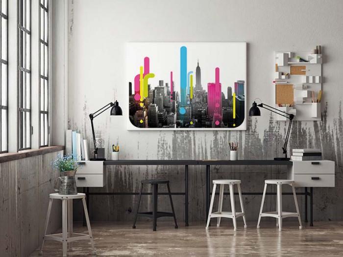 Un tableau color pour r veiller un int rieur - Tableau deco industrielle ...