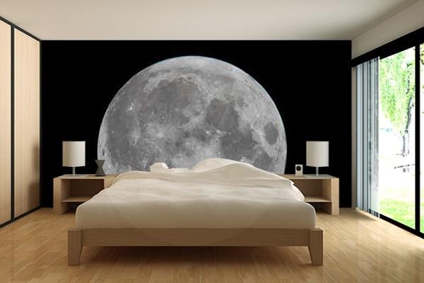 Papier peint chambre th me espace - Decoration papier peint ...