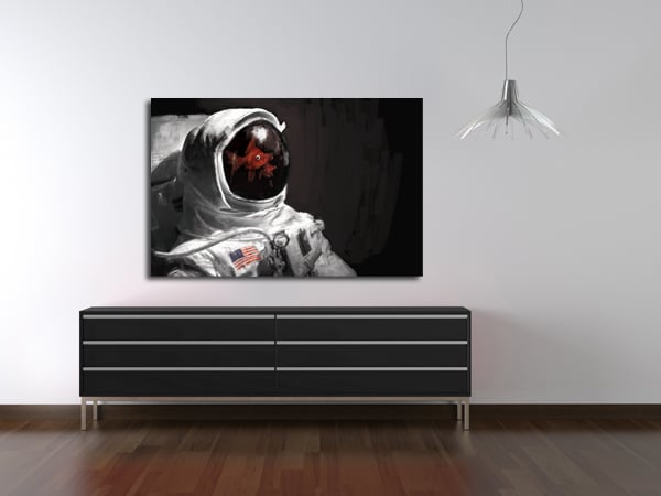 cadre décoratif mural astronaute