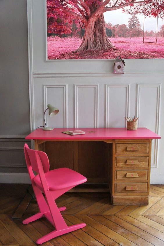 papier-peint-chambre-enfant-fille-rose