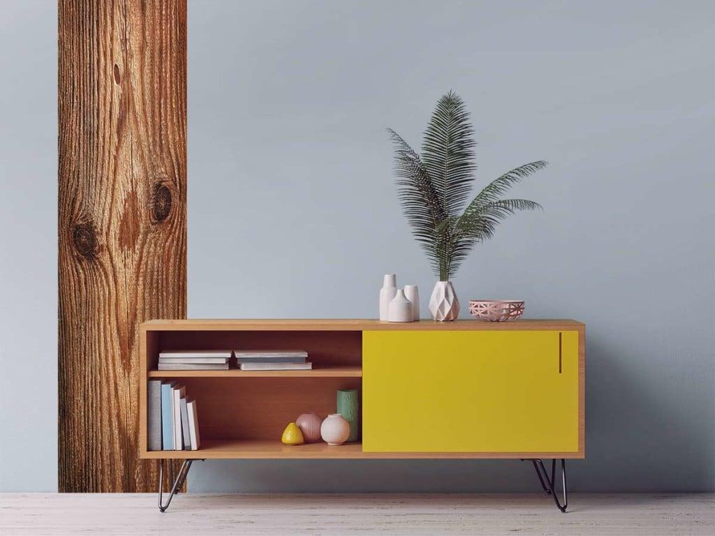 je craque pour un papier peint trompe l il imitation bois blog toile design et moderne d 39 izoa. Black Bedroom Furniture Sets. Home Design Ideas
