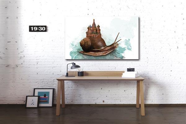 tableau toile escargot