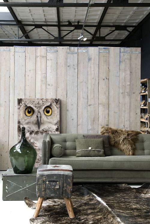 tableau-decoration-hibou-pour-deco-originale-kaki
