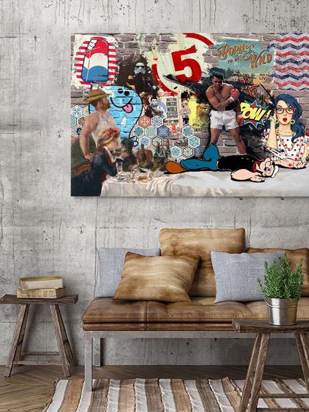 tableau pop art  papier peint pow blog izoa