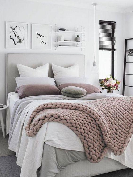 jetée de lit tricot