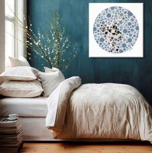 chambre bleu canard et blanc. Black Bedroom Furniture Sets. Home Design Ideas