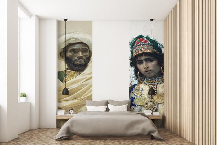 papier-peint-chambre-amis-lé-unique--theme-marocain