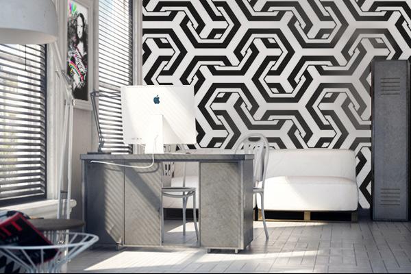 papier-peint-graphique-3d-deco-bureau