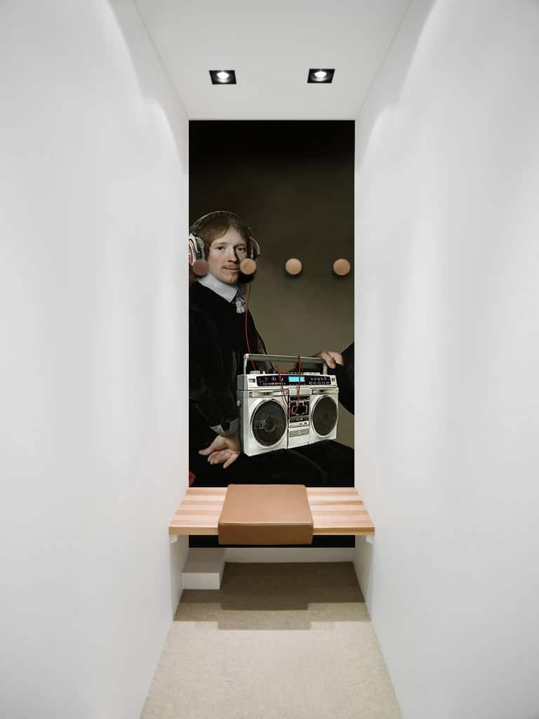 nos papiers peints izoa d corent les cabines d essayages. Black Bedroom Furniture Sets. Home Design Ideas