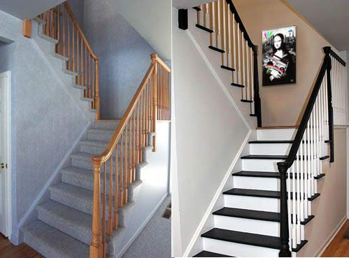 rénovation escalier tableau déco Izoa