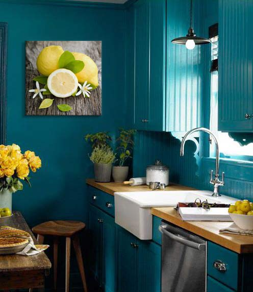 Decoration Murale Bleu Canard Blog Izoa