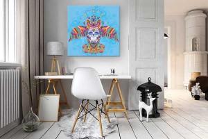 tableau-decoration-original-izoa-hibou-azteque