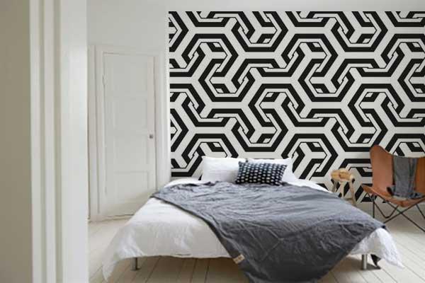 tapisserie-chambre-noir-et-blanc